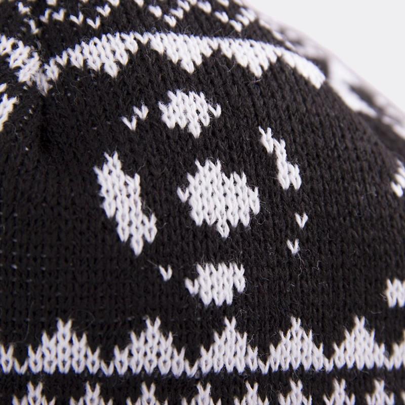 Шапка-бини с помпоном Nordic Knit черно-белая