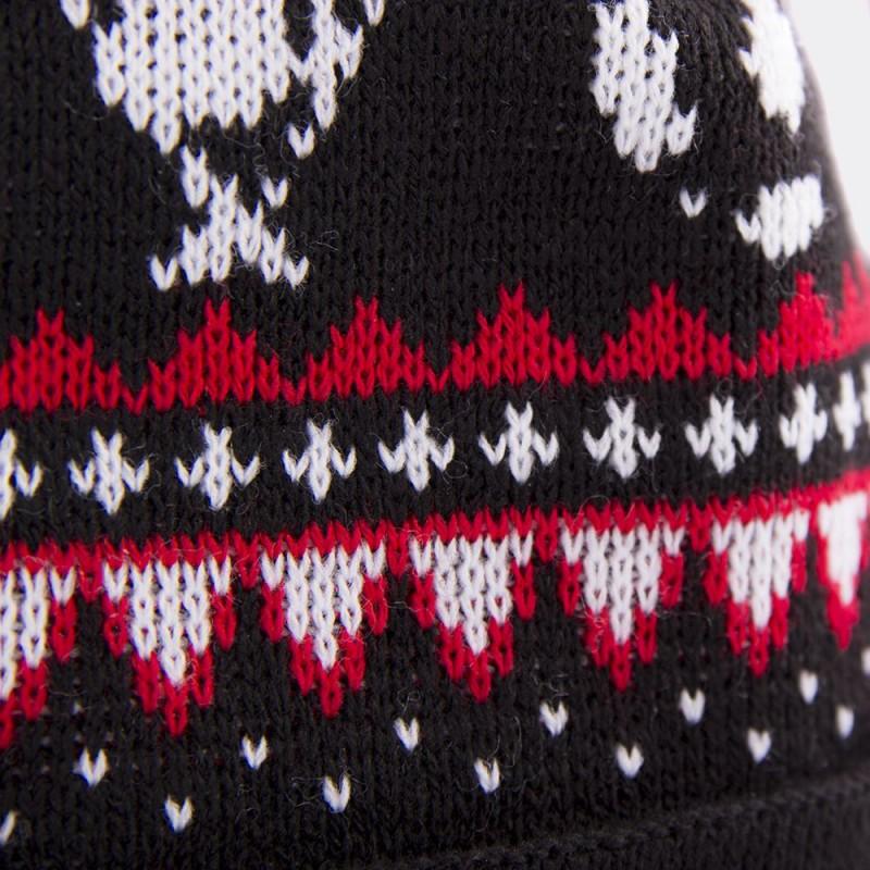 Шапка-бини с помпоном Nordic Knit черная