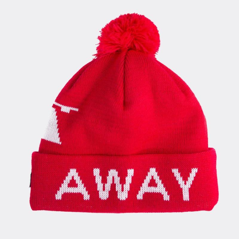 Шапка-бини с помпоном Away Days красная