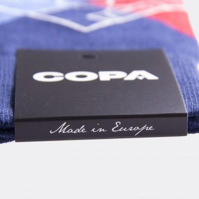 Носки с футбольным принтом Argyle Pitch синие