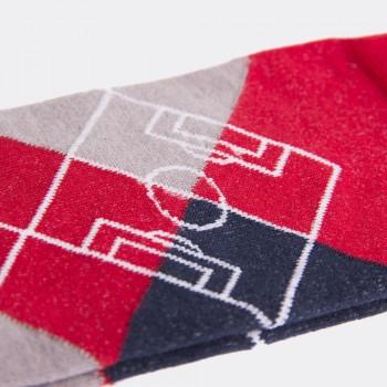 Носки с футбольным принтом Argyle Pitch красные