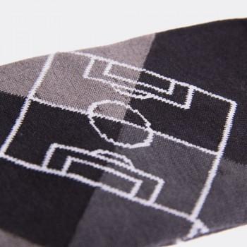 Носки с футбольным принтом Argyle Pitch черно-серые