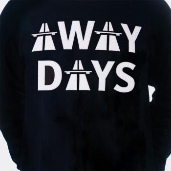Свитшот с принтом Away Days черный