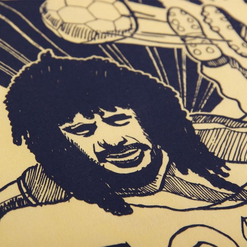 Футболка с принтом Higuita желтая