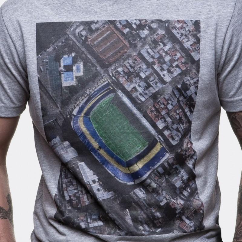 Футболка с принтом Bombonera Sky View меланж серая