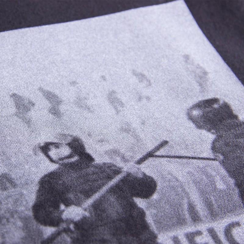Футболка с принтом Police черная