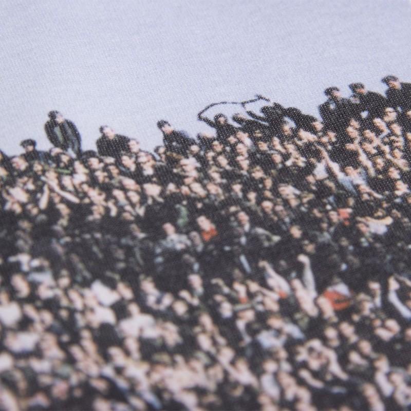 Футболка с принтом Crowd белая