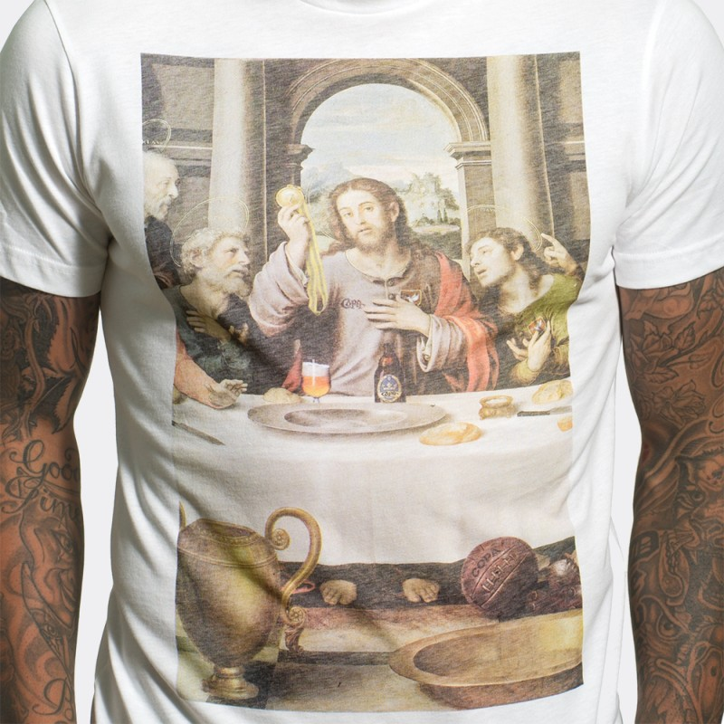 Футболка с принтом The Last Supper белая