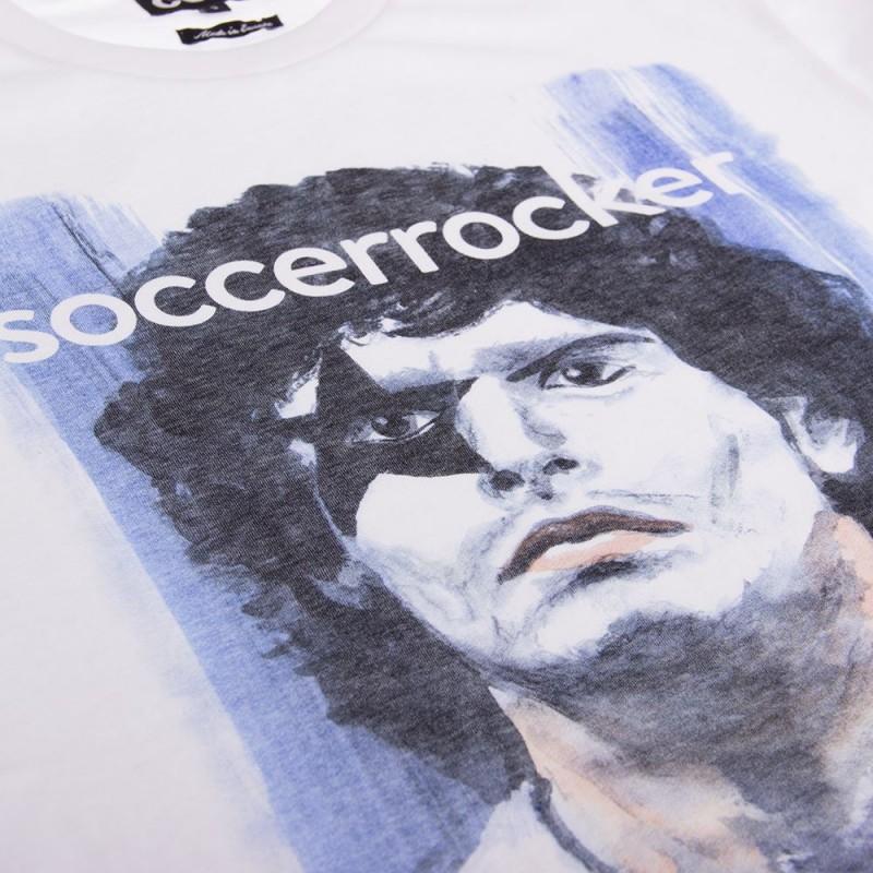 Футболка с принтом SoccerRocker белая