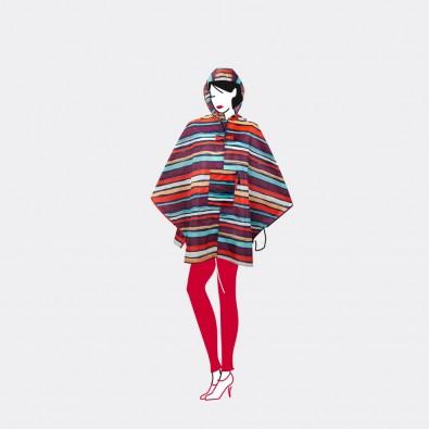 Дождевик пончо Mini maxi artist stripes