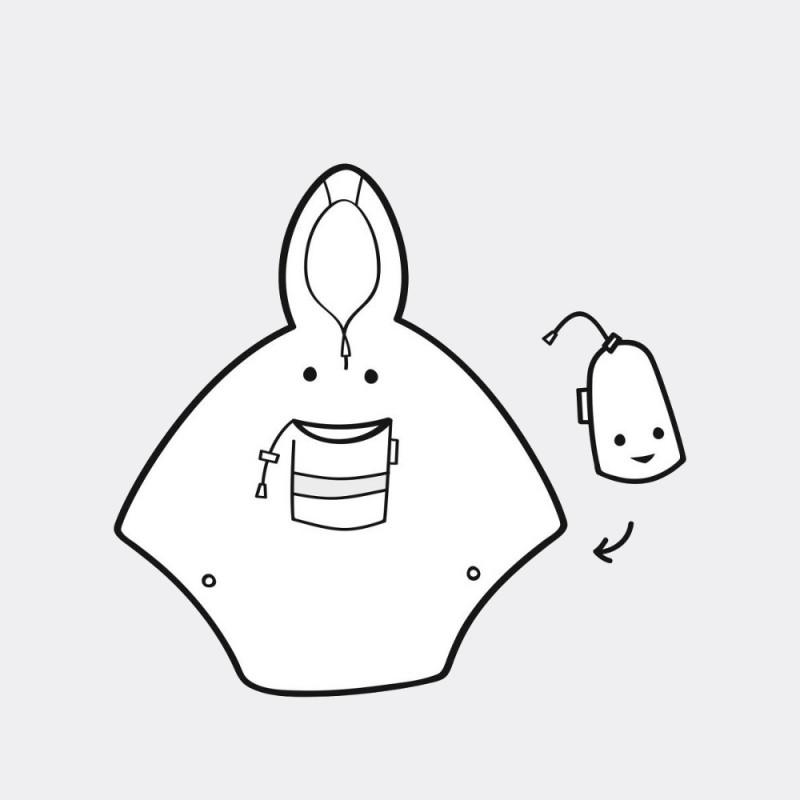 Дождевик-анорак детский Cat and Dogs мятный