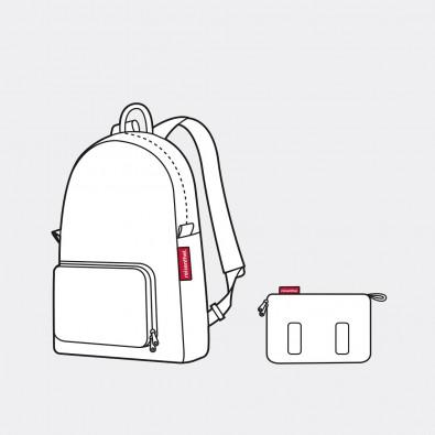 Рюкзак складной Mini maxi Diamonds кофейный