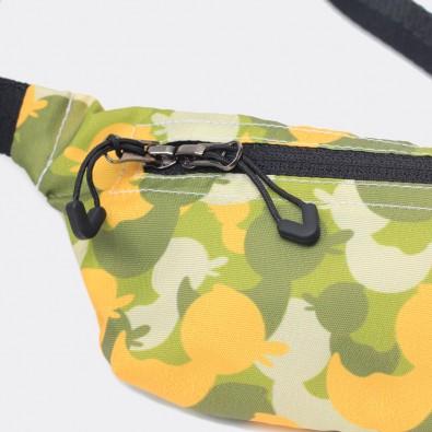 Детская сумка на пояс с принтом Camo Duck