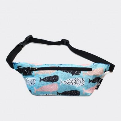 Детская сумка на пояс с принтом Whales