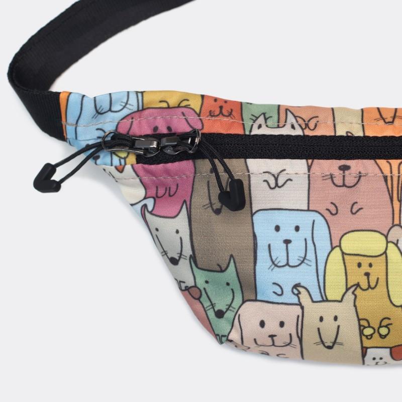 Детская сумка на пояс с принтом Dog Family