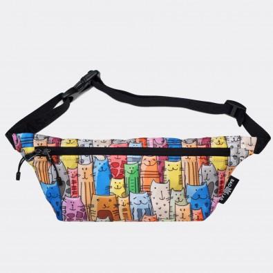 Детская сумка на пояс с принтом Cats Family
