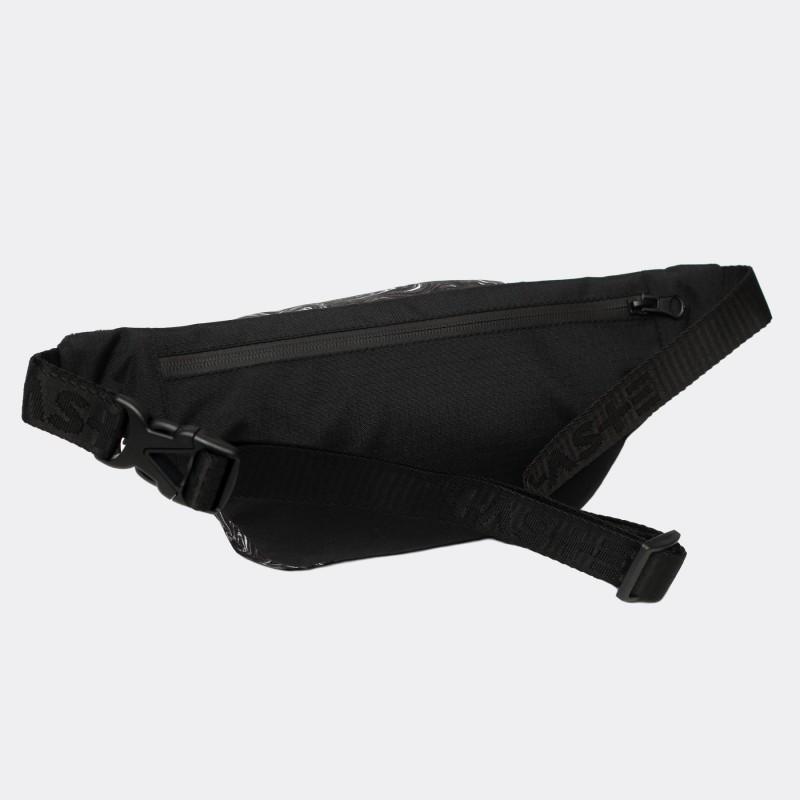 Поясная сумка Pase с принтом Marble black