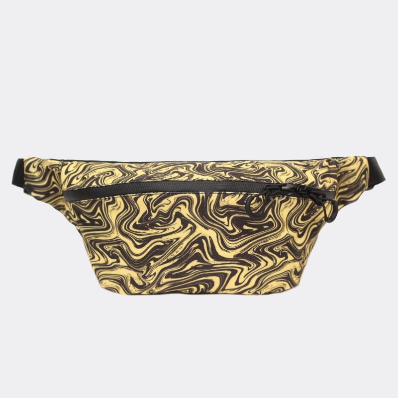 Поясная сумка Pase с принтом Marble yellow