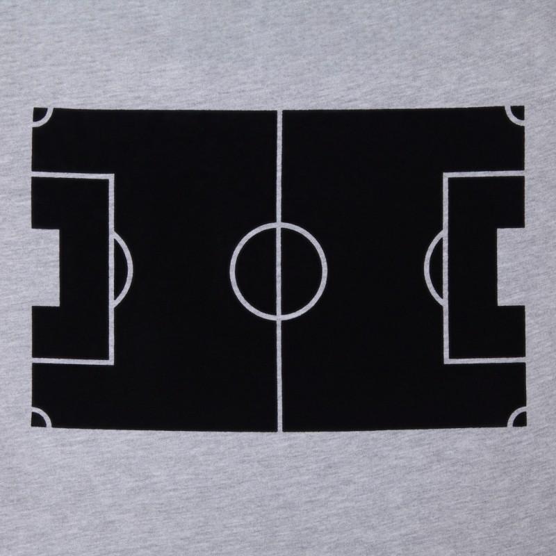 Футболка с флоковым принтом Football Field меланж