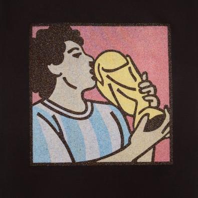 Футболка с принтом Maradona | World Cup черная