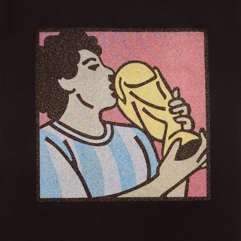 Футболка с принтом Maradona   World Cup черная