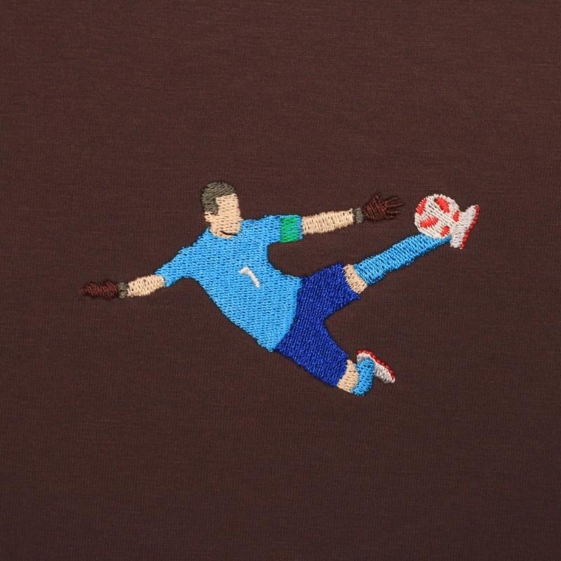 Футболка с вышивкой Igor Akinfeev коричневая