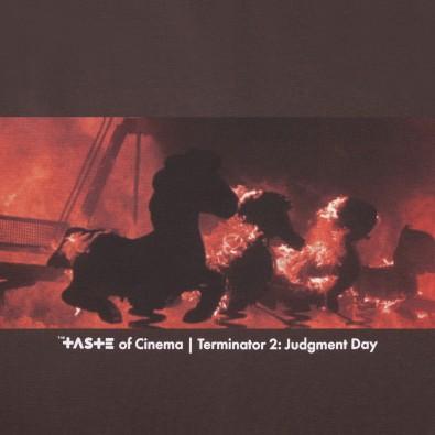 Футболка с принтом Nightmare | Terminator 2 коричневая