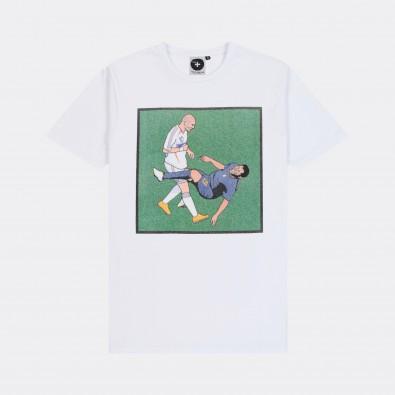 Футболка с принтом Zinedine Zidane Headbutt белая