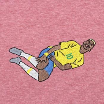 Футболка с вышивкой Neymar красный меланж
