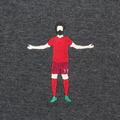 Футболка с вышивкой M.Salah черный меланж