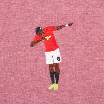 Футболка с вышивкой Pogba красный меланж