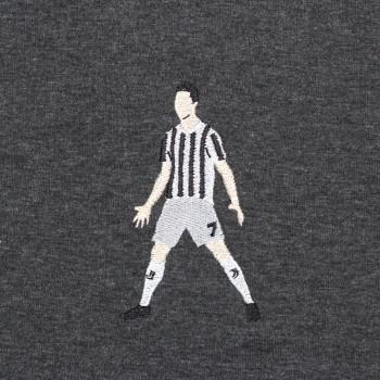 Футболка с вышивкой Cristiano Ronaldo черный меланж