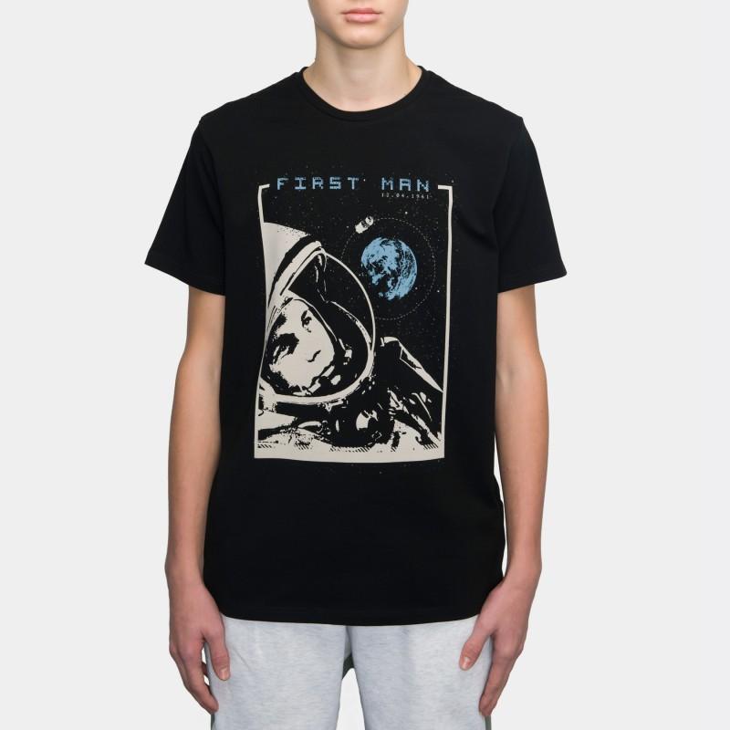 Футболка с принтом Gagarin | First Man черная