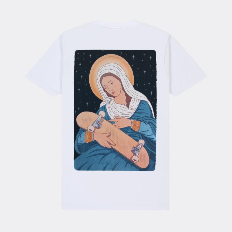 Футболка с принтом Virgin Maria | sk8b белая