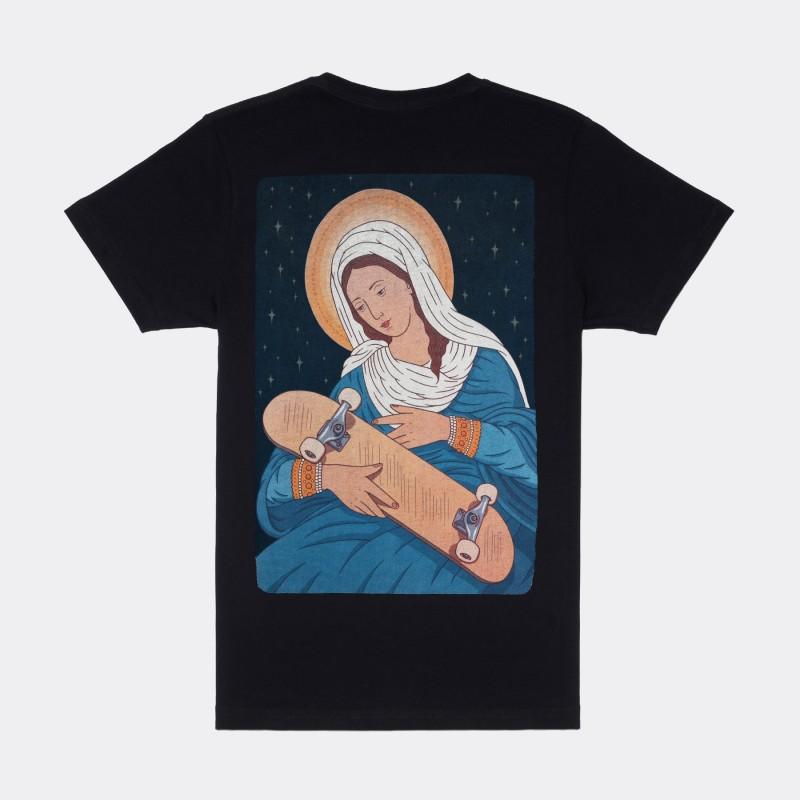 Футболка с принтом Virgin Maria | sk8b черная