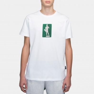 Футболка с принтом David | sk8b белая