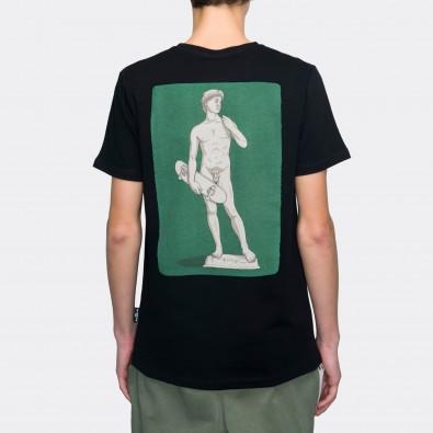 Футболка с принтом David | sk8b черная