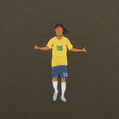 Футболка с вышивкой Ronaldinho | Brazil зеленая