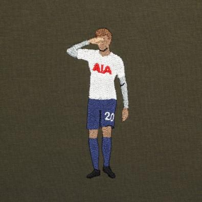 Футболка с вышивкой Dele Alli | Tottenham зеленая