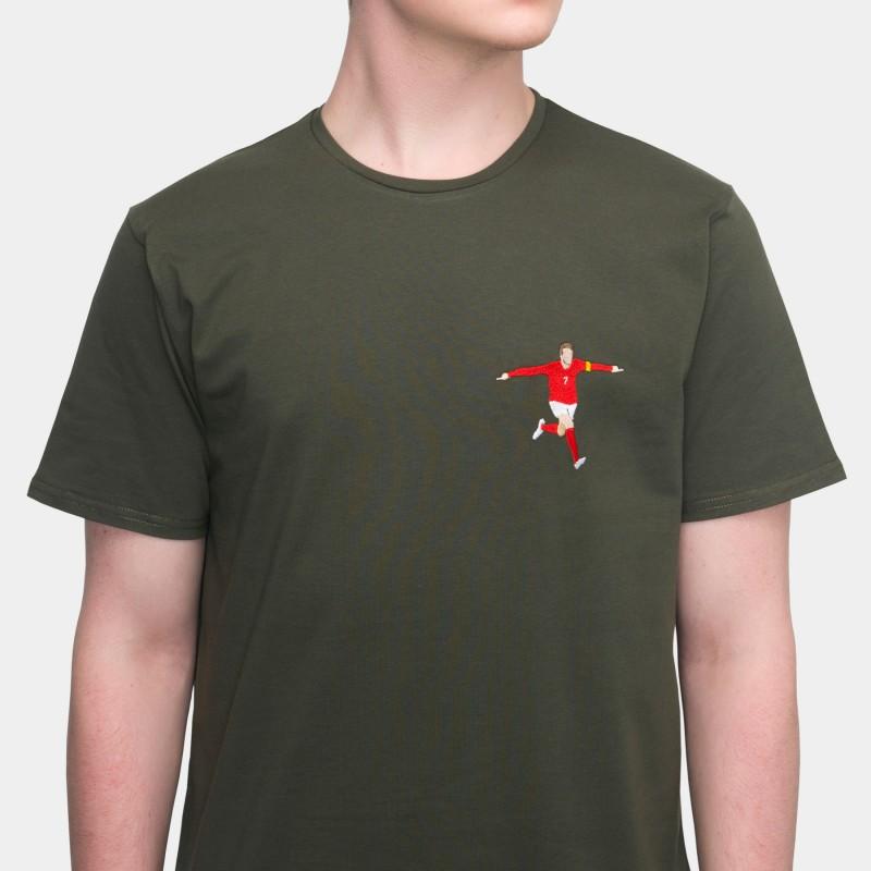 Футболка с вышивкой David Beckham | England зеленая