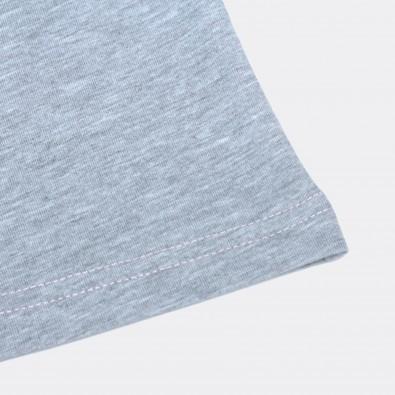 Футболка Tricolor block - Blue / Pale pink / Grey