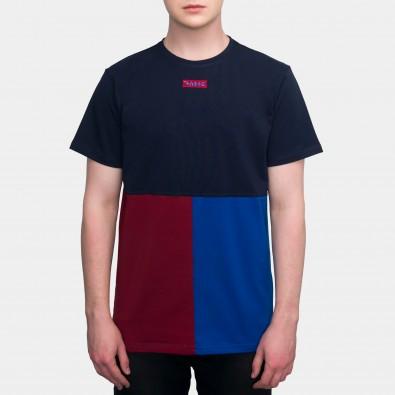 Футболка Tricolor block - Navy / Red / Azure