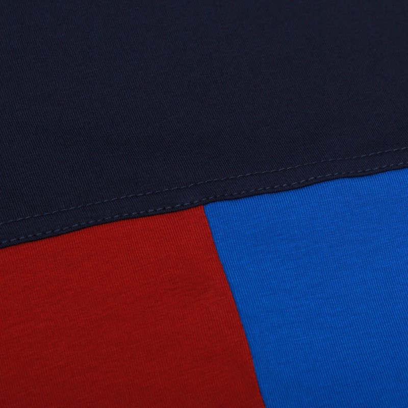 Футболка Tricolor block - Navy / Red / Azure