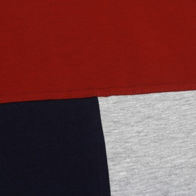 Футболка Tricolor block - Red / Navy / Grey