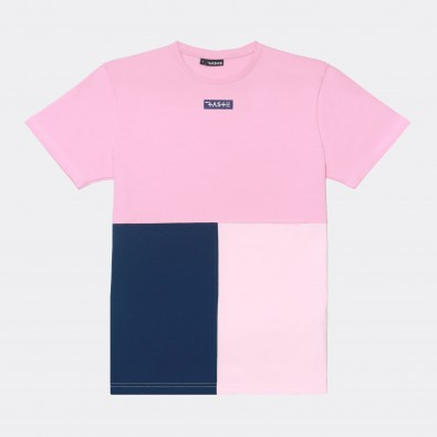 Футболка Tricolor block - Rose / Blue / Pale pink