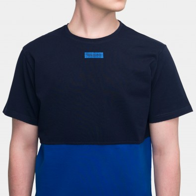 Футболка Two-color block - Navy / Azure
