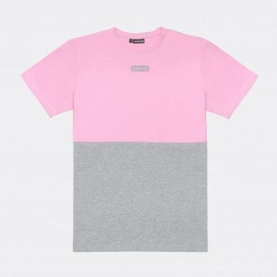 Футболка Two-color block - Pink / Grey