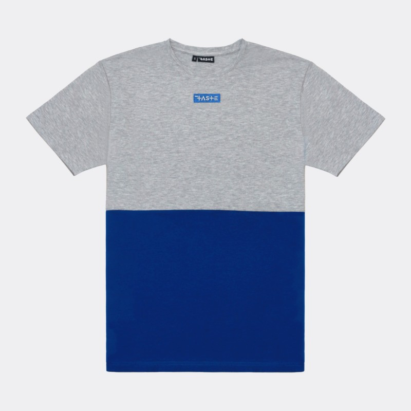 Футболка Two-color block - Grey / Azure