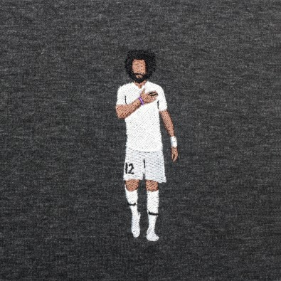 Футболка с вышивкой Marcelo | Real Madrid черный меланж