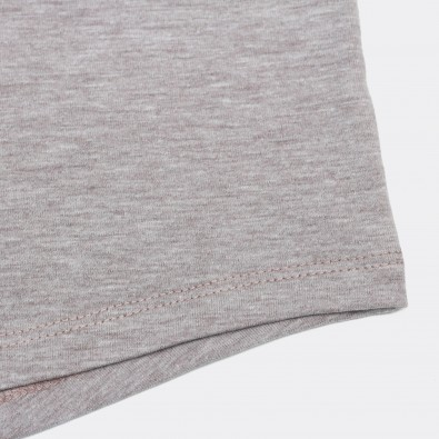 Футболка с вышивкой Pogba | MU светло-коричневый меланж